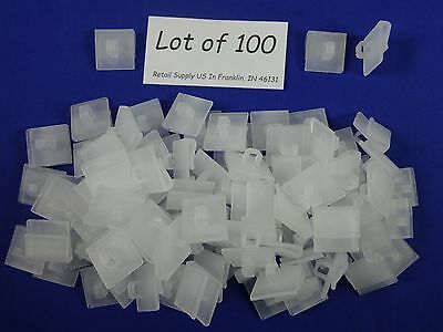 100 Qty Drop Ceiling Track Grid Tile Snap Clip Hook Hinged Signage Banner Supply