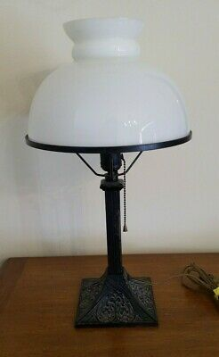 """Antique 19"""" Tall Mission Arts & Crafts Table Lamp"""