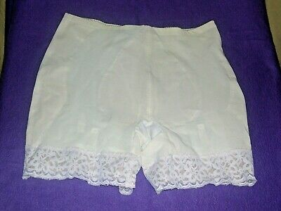 """Db Intimates Long Leg Pantie Girdle W/2 1/2"""" Lace Cuffs Moderate Support #112 36"""