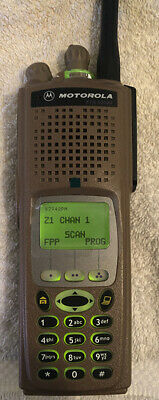 Motorola Xts5000 Rare Uhfh 450-520 Fpp Astro Digital Radio In  Army Combat Brown