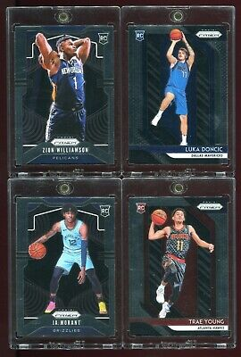 Zion Williamson Luka Doncic Ja Morant Trae Young Prizm Rookie Cards LOT