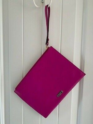 Authentic Kate Spade New York BFF Collection Pink Bold Clutch with Gold Zipper