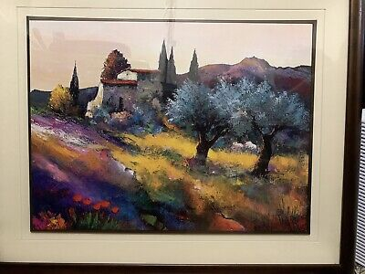 2 of 2 Painting Oil on Canvas Signed Listed Artist Keiflir 2 OF 2