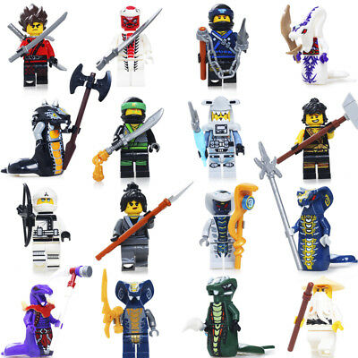 Ninjago Mini Toys Wu Master/Jay/Kai/Sensei/Blocks fit all building blocks 24Pcs