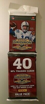 2010 GRIDIRON GEAR NFL FOOTBALL Relic/Auto/Patch JUMBO HOT PACK