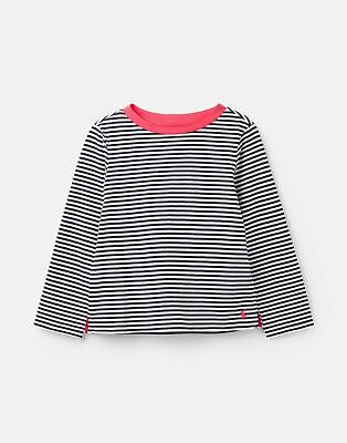 Joules Girls Pascal Striped Lightweight Top  - BLUE WHITE STRIPE