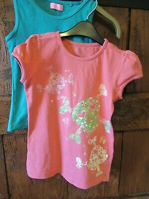 3 x NEXT Girls Tops & 1 x Pink Glittery Top Age 8 Years [4 total]