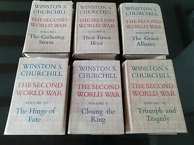 The Second World War by Winston Churchill Complete Set 1-6 First Editions.