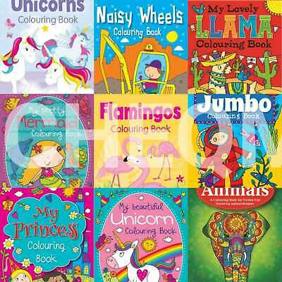 Kids Colouring Books Relaxing Unicorn Mermaid Colour Therapy Animal Book