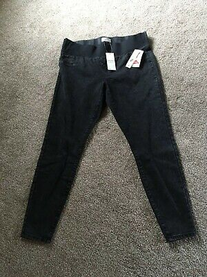 Bnwt Matalan Maternity Jeans Under The Bump Black Size 14 - Brand New