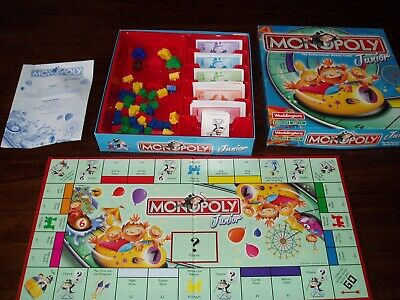 Junior monopoly board game Rollercoaster Kids Childrens 2001 has to age 5-8