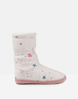 Joules Girls Padabout Slipper Socks - PINK GALAXY