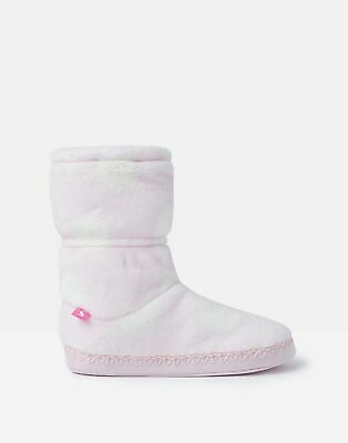 Joules Girls Padabout Slipper Socks - PINK SPOT