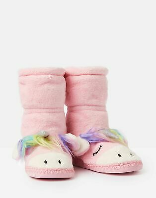 Joules 207164 Fluffy Slipper Sock - UNICORN
