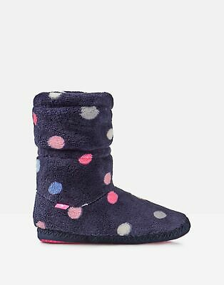 Joules Girls Padabout Slipper Socks - NAVY MULTI SPOT Size S