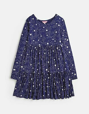 Joules Girls Toni Tiered Dress  - NAVY STAR Size 9yr-10yr