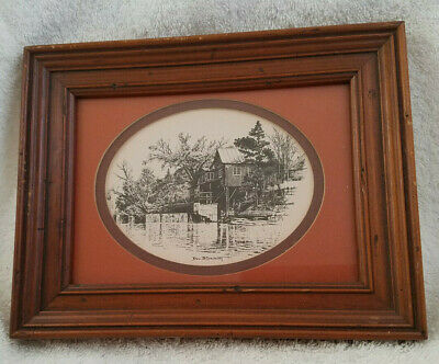 Vintage Art By Don Northcutt Signed Print Framed & Matted