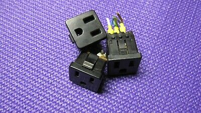 Power Entrance Receptacle Nema 5-15 Panel Mount, Lot Of 3
