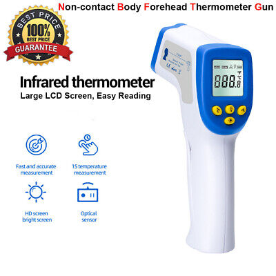 Digital Non Touch IR Infrared Forehead Thermometer Gun Adult Body Temperature