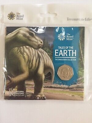 2020 DINOSAUR IGUANADON 50P FIFTY PENCE BU COIN Royal Mint Sealed PACK