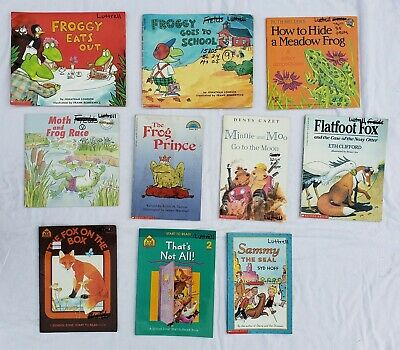 Lot 10 Childrens Kids Books Animals Frog Fox Seal Pig Young Readers Beginning