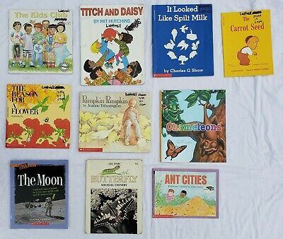Lot 10 Childrens Kids Books Animals Insect Plants Growing Moon Butterfly Bee Ant