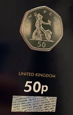 2019 Britannia 50p Coin CERTIFIED BUNC 50 Years Of The Fifty Pence Royal Mint