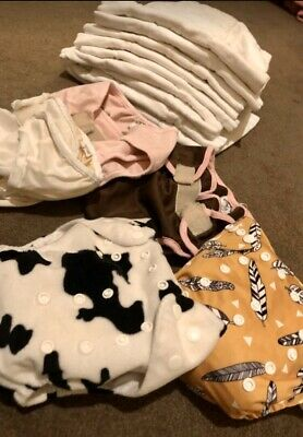 Cloth Diaper Lot Used - Cleaned And Stripped