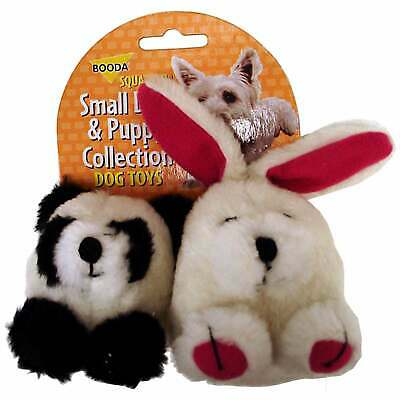 Medium Petmate 0300700 Squatter Ball Shaped Dog Toys featuring a Raccoon Hedgehog and Rabbit 3-pack