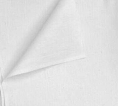 """White Cotton Fabric 45"""" Width Sold By The Yard"""