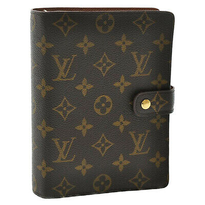 LOUIS VUITTON Monogram Agenda MM Day Planner Cover R20105 LV Auth kh319