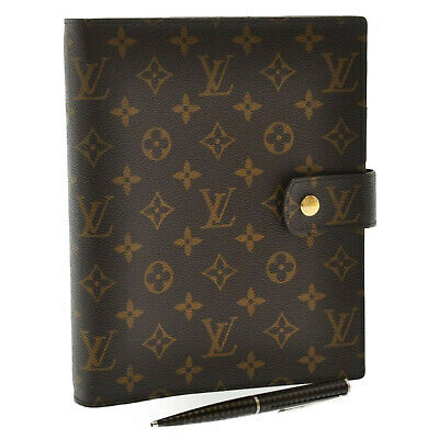 LOUIS VUITTON Monogram Agenda GM Day Planner Cover R20006 LV Auth kh310