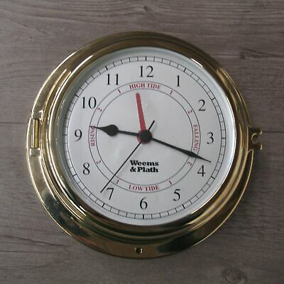 Weems And Plath Round Nautical Style Wall Clock With Tide Markings Tested