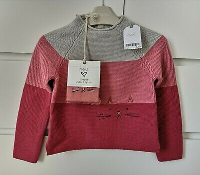BNWT NEXT CAT___jumper with tights set girl age 5-6 yrs