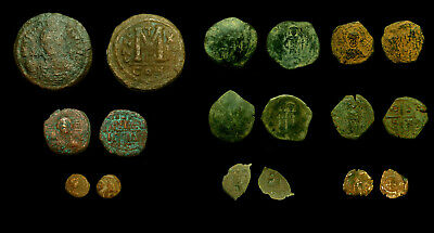 Lot of 9 Byzantine & Crusader coins identified with references