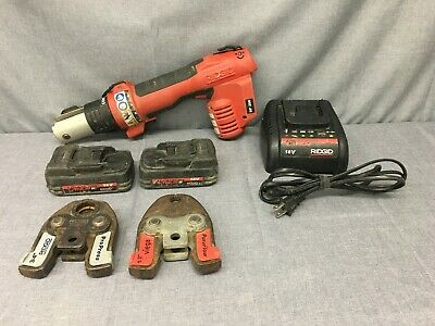 RIDGID RP 200-B COMPACT PRESS TOOL with 2X BATTERY, CHARGER & 2X PROPRESS JAWS-