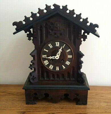 1890'S Antique Victorian Black Forest Cuckoo Clock Mantel Bracket