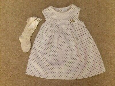 Baby Dress By Spanish Designer Mayoral Chic To Fit 12 Mth Old With Socks