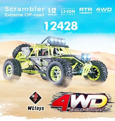 Wltoys 1/12 2,4GHz 4WD 50 m/h RC Auto Rock Crawler Off-Road RTR Buggy Truck E6Q2