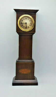1900'S Antique Mahogany Miniature Grandfather Clock