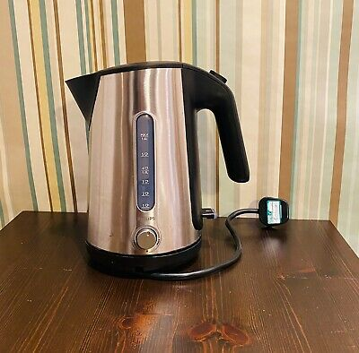 Philips Energy Efficient Stylish Eco Kettle, 3000 W - Silver HD4632/20