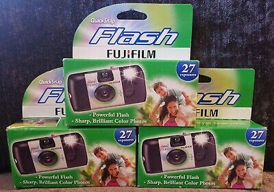 X3 Fujifilm QuickSnap Flash Disposable Camera (27 exp) ☆EXP: all 8/19☆