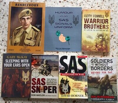 Australian Special Air Service (SAS)  - 6 Good Reference Books