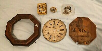 E. N. Welch Marine Clock, 1850's, Incomplete, 30-hour lever escapement