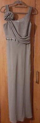 Jenny packham 10/12 Olive Green Grecian Style Prom Or Bridesmaid Dress Debenhams