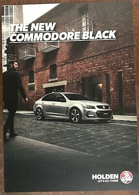 Holden Commodore VF Series II Black Limited Edition Sales Brochure