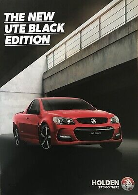 Holden Commodore VF Series II Black Limited Edition Ute  Sales Brochure
