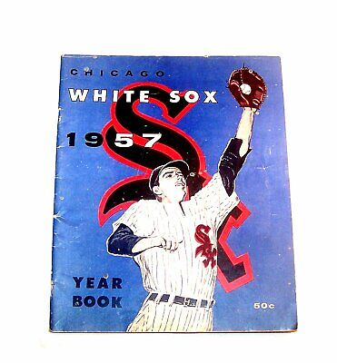 1957 Chicago White Sox Baseball Yearbook VG Program Ticket Cubs Bears Ofr