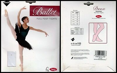 Childrens Age 3//5 yrs Tan Silky Full Foot Spandex Ballet Dance Tights