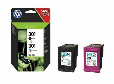 PACK 2 CARTOUCHE HP 301 NOIRE COULEUR N9J72AE multipack
